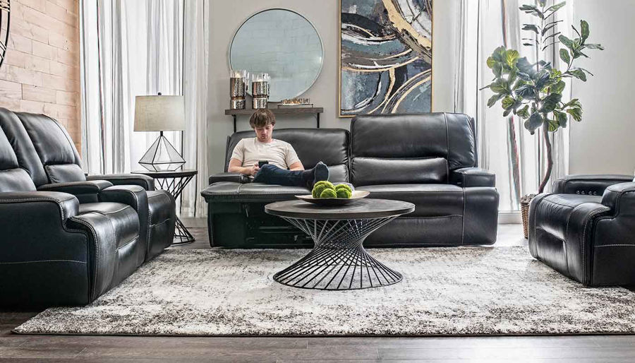 Imagen de Lake Como Blackberry Power Sofa, Loveseat & Recliner