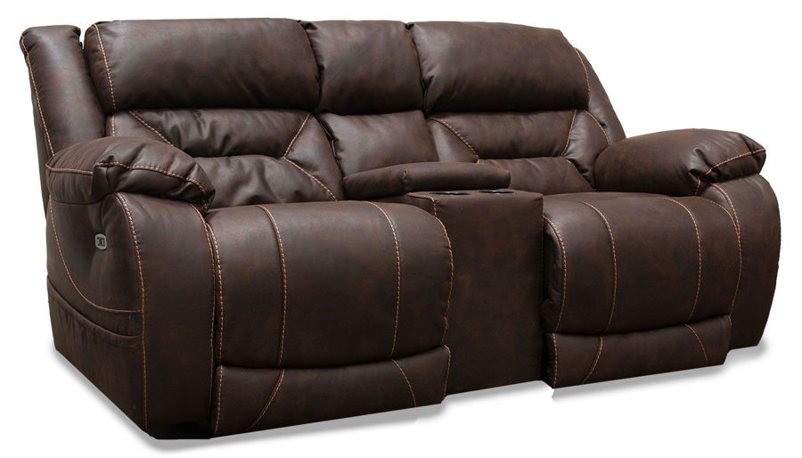 Imagen de Houston Chocolate Power Loveseat