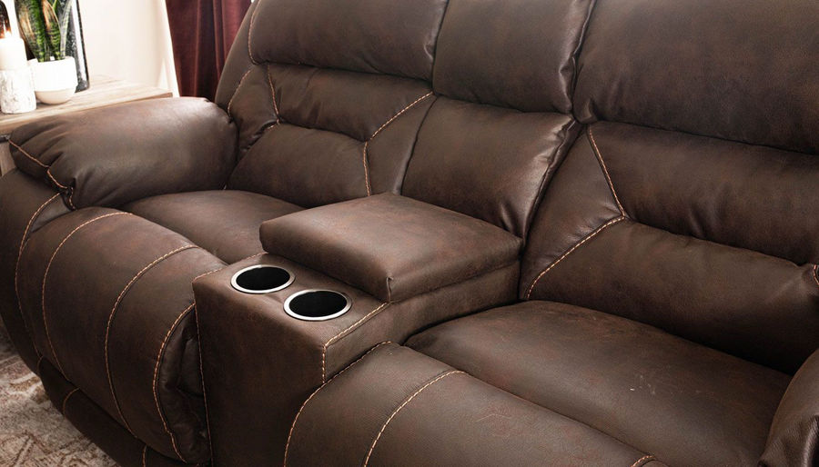 Picture of Houston Chocolate Power Loveseat