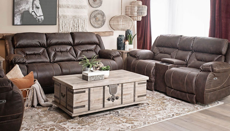 Picture of Houston Chocolate Power Sofa & Loveseat