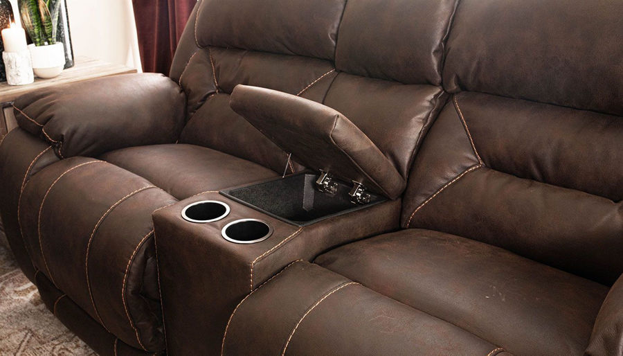 Imagen de Houston Chocolate Power Sofa & Loveseat