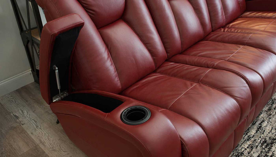Picture of Panther 2 Red Power Sofa