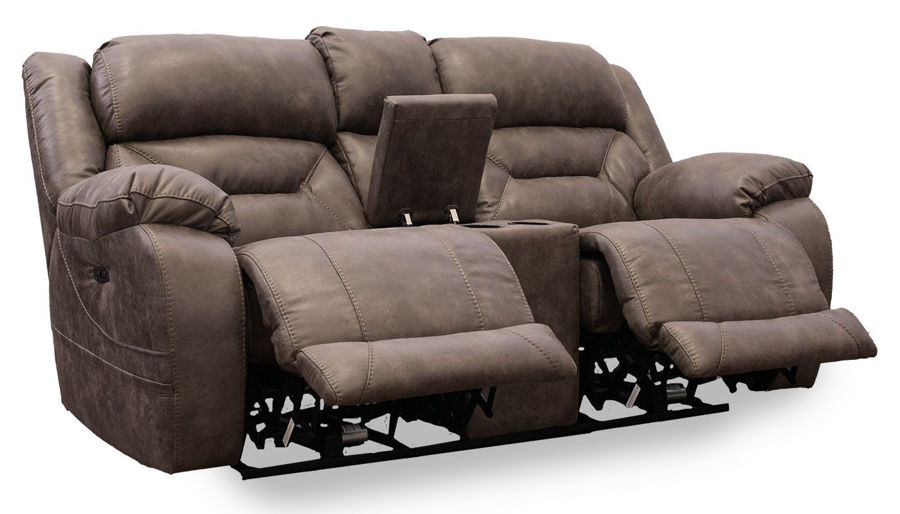 Picture of Houston Taupe Power Loveseat