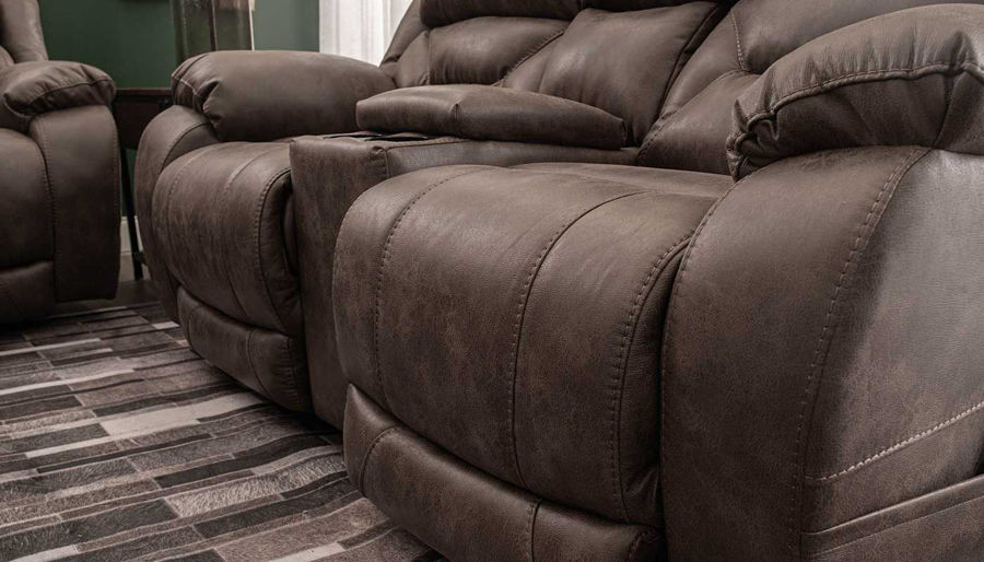 Picture of Houston Taupe Power Sofa, Loveseat & Recliner