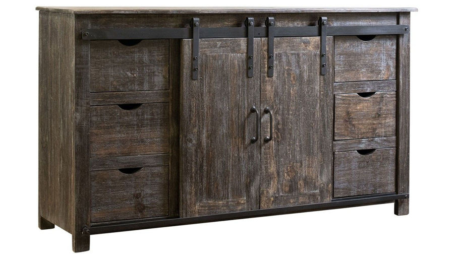 """Picture of 60"""" Barnwood Entertainment Console"""