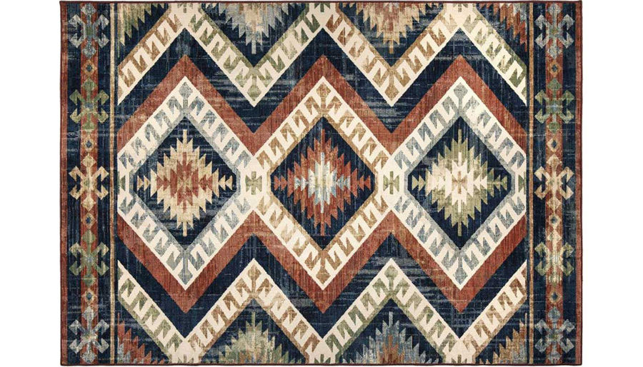 Picture of Kilim Diamonds Red Rug 8X10