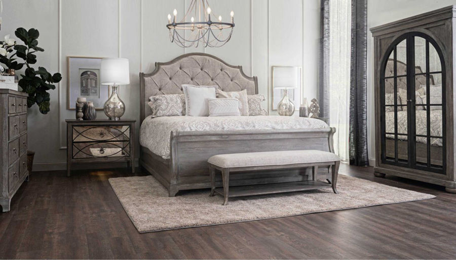Picture of Huntington Beach King Bed, Dresser, Mirror & 2 Mirrored Nightstands