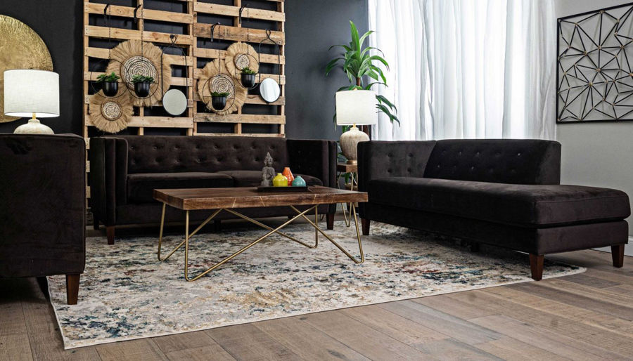 Picture of Dryden II Chocolate Sofa, Chair & Ottoman