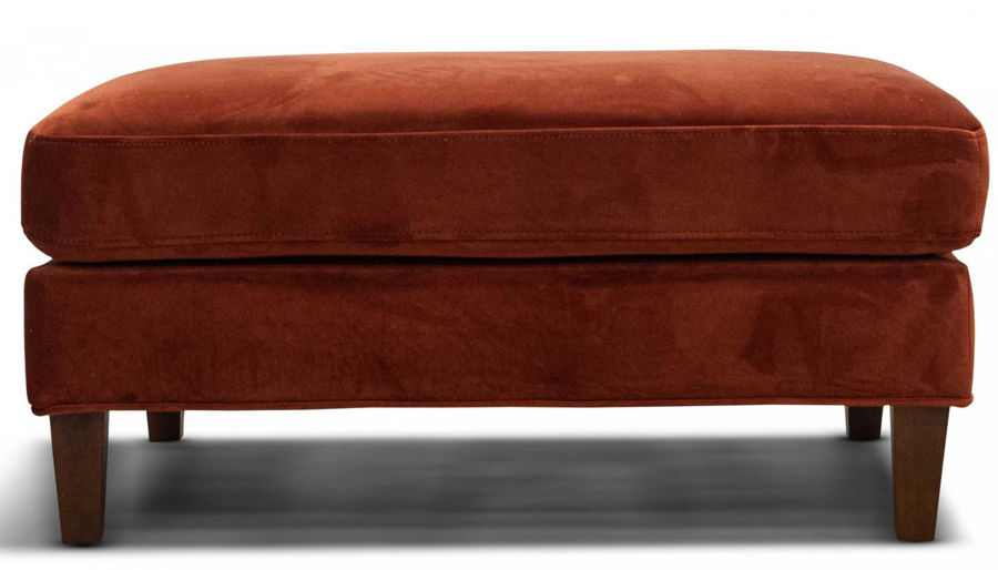 Picture of Dryden II Rust Ottoman