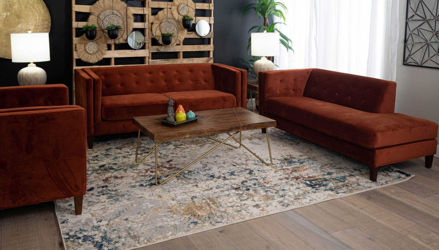 Picture of Dryden II Rust Sofa, Chair & Ottoman